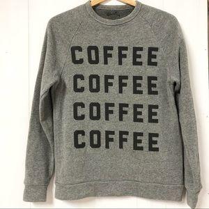 Coffee Graphic Grey Sweater Size XS